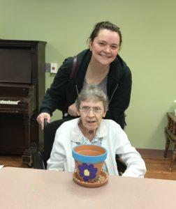 Artsy resident Eleanor Clark with granddaughter Kristi Biosi