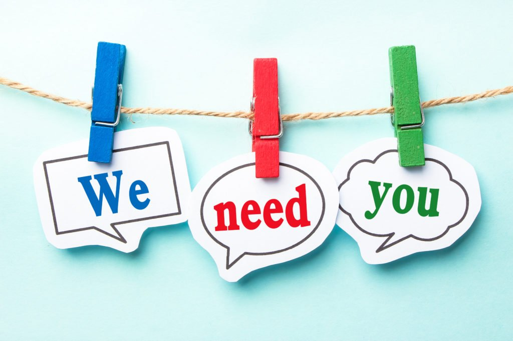 Photo - Volunteers- we need you