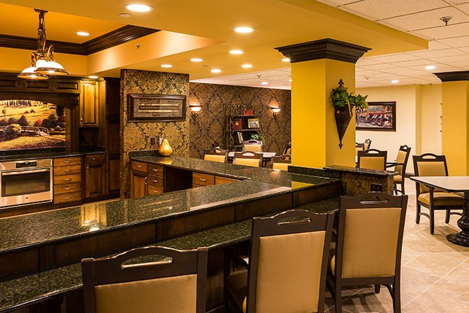 Assisted Living group kitchen interior
