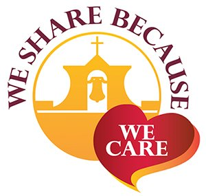 We Share Because We Care Logo
