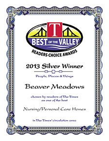 Beaver Meadows 2013 Silver Certificate