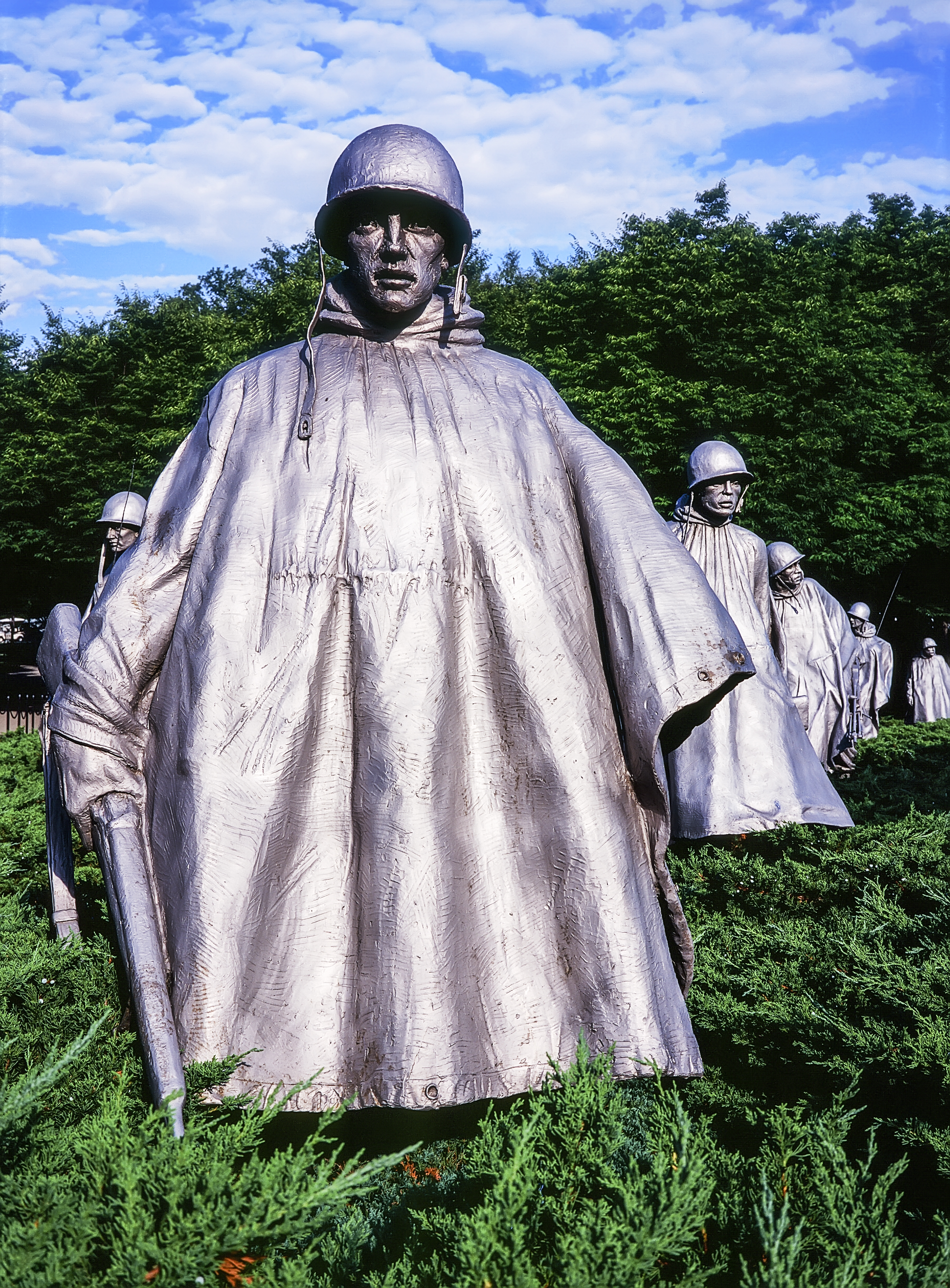 Platoon At The Korean War Memorial