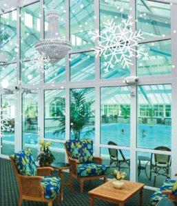 stb hospitality cc pool snowflakes
