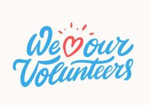 we love our volunteers image