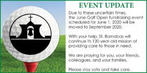 St. Barnabas Charities - June Golf 2020 - Event Update
