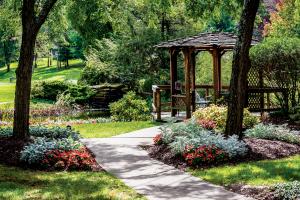 Pennsylvania Koi pond and walking path